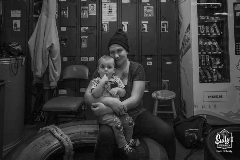 mother and child at sullys boxing gym toronto