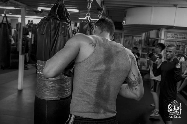 active boxing class at Sullys boxing gym in toronto